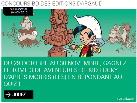 Concours Lucky Luke Dargaud
